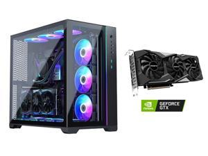 MetallicGear NEO Qube, Dual Tempered Glass Design, Dual Chamber ATX Mid-Tower Case + GIGABYTE GeForce GTX 1660 SUPER DirectX 12 GV-N166SGAMING-6GD 6GB Video Card