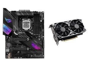 ASUS ROG STRIX Z490-E GAMING LGA 1200 (Intel 10th Gen) Intel Z490 (WiFi 6) SATA 6Gb/s ATX Intel Motherboard, EVGA GeForce GTX 1660 Ti SC ULTRA GAMING 6GB GDDR6 Video Card