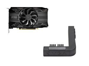 EVGA GeForce GTX 1660 BLACK GAMING Video Card, 06G-P4-1160-KR, 6GB GDDR5, Single Fan + EVGA PowerLink Support ALL NVIDIA Founders Edition & ALL EVGA GeForce RTX