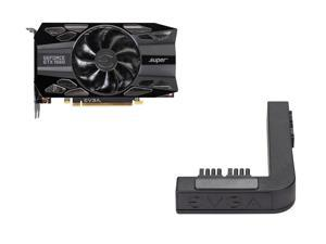 EVGA GeForce GTX 1660 SUPER BLACK GAMING Video Card, 06G-P4-1061-KR, 6GB GDDR6, Single Fan + EVGA PowerLink Support ALL NVIDIA Founders Edition & ALL EVGA GeForce RTX
