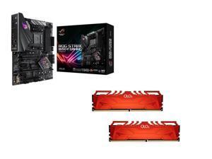 ASUS ROG STRIX B450-F GAMING AMD Motherboard, OLOy WarHawk RGB 16GB (2 x 8GB) DDR4 3200 (PC4 25600) Desktop Memory