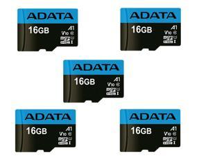 5 x ADATA 16GB Premier microSDHC UHS-I / Class 10 V10 A1 Memory Card with SD Adapter, Speed Up to 100MB/s (AUSDH16GUICL10A1-RA1)
