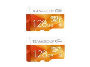 2 x Team Group 128GB Color microSDXC UHS-I/U1 Class 10 Memory Card with Adapter, Speed Up to 80MB/s (TCUSDX128GUHS42)