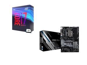 Intel Core i7-9700K 3.6 GHz (4.9 GHz Turbo) 95W BX80684I79700K Desktop Processor, ASRock Z390 Pro4 Intel Motherboard