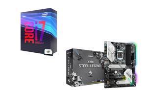 Intel Core i7-9700K 3.6 GHz (4.9 GHz Turbo) 95W BX80684I79700K Desktop Processor, ASRock Z390 STEEL LEGEND Intel Motherboard