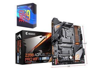 GIGABYTE Z390 AORUS PRO WIFI LGA 1151 (300 Series) Intel Z390 SATA 6Gb/s ATX Intel Motherboard + Intel Core i9-9900K Processor Intel UHD Graphics 630