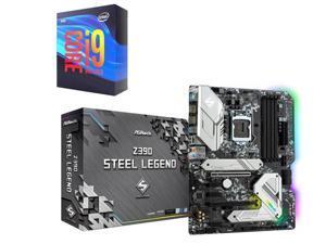 ASRock Z390 STEEL LEGEND LGA 1151 (300 Series) Intel Z390 HDMI SATA 6Gb/s USB 3.1 USB 3.0 ATX Intel Motherboard + Intel Core i9-9900K Processor Intel UHD Graphics 630