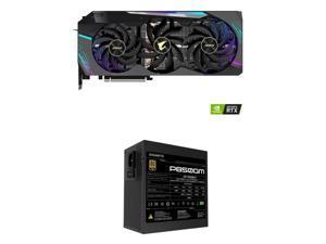 GIGABYTE AORUS GeForce RTX 3080 DirectX 12 GV-N3080AORUS X-10GD 10GB 320-Bit GDDR6X PCI Express 4.0 x16 ATX Video Card + GIGABYTE GP-P850GM 850W ATX Power Supply
