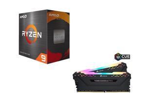 AMD Ryzen 9 5900X 3.7GHz Desktop Processor, CORSAIR Vengeance RGB Pro 32GB (2 x 16GB) DDR4 3600 Desktop Memory