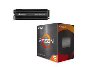 AMD Ryzen 9 5900X 3.7 GHz Socket AM4 100-100000061WOF Desktop Processor + Corsair Force MP600 M.2 2280 1TB PCI-Express Gen 4.0 x4 NVMe 3D TLC Internal Solid State Drive (SSD) CSSD-F1000GBMP600