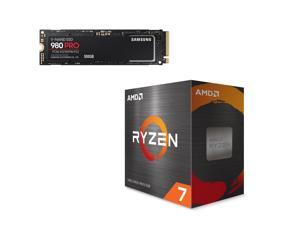 AMD Ryzen 7 5800X 3.8 GHz Socket AM4 100-100000063WOF Desktop Processor + SAMSUNG 980 PRO M.2 2280 500GB PCI-Express 4.0 x4, NVMe Samsung V-NAND Internal Solid State Drive (SSD) MZ-V8P500B/AM