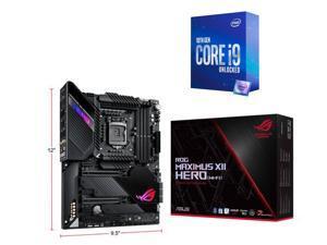 ASUS ROG MAXIMUS XII HERO (WI-FI) LGA 1200 (Intel 10th Gen)  Intel Z490 (WiFi 6) SATA 6Gb/s ATX Intel Motherboard, Intel Core i9-10850K Processor