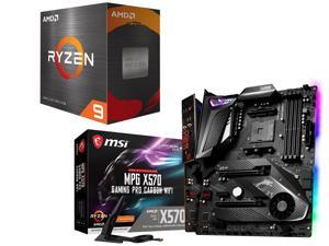 AMD Ryzen 9 5950X Processor, MSI MPG X570 GAMING PRO CARBON WIFI ATX Gaming Motherboard