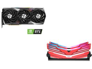 MSI GeForce RTX 3090 DirectX 12 RTX 3090 GAMING X TRIO 24GB, OLOy WarHawk RGB 16GB (2 x 8GB) DDR4 3200 (PC4 25600) Desktop Memory