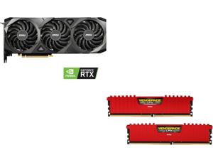 MSI GeForce RTX 3080 VENTUS 3X 10GB, CORSAIR Vengeance LPX 16GB (2 x 8GB) DDR4 3600 (PC4 28800) Desktop Memory Model