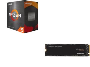 AMD Ryzen 9 5900X 12-Core 3.7 GHz Socket AM4 105W 100-100000061WOF Desktop Processor and Western Digital WD BLACK SN850 NVMe M.2 2280 1TB PCI-Express 4.0 x4 3D NAND Internal Solid State Drive (SSD) WDS100T1X0E