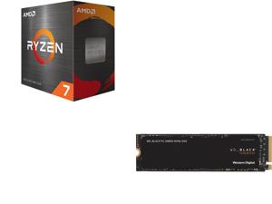 AMD Ryzen 7 5800X 8-Core 3.8 GHz Socket AM4 105W 100-100000063WOF Desktop Processor and Western Digital WD BLACK SN850 NVMe M.2 2280 1TB PCI-Express 4.0 x4 3D NAND Internal Solid State Drive (SSD) WDS100T1X0E