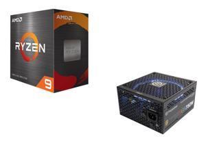 AMD Ryzen 9 5900X Processor + Thermaltake Toughpower Grand RGB 750W Smart Zero Fan SLI/CrossFire Ready Continuous Power