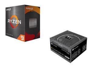 AMD Ryzen 9 5950X Processor + Thermaltake Toughpower GF1 650W Full Modular Power Supply 10 Year Warranty - PS-TPD-0650FNFAGU-1