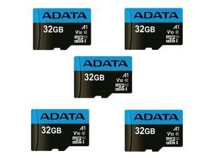 5 x ADATA 32GB Premier microSDHC UHS-I / Class 10 V10 A1 Memory Card with SD Adapter, Speed Up to 100MB/s (AUSDH32GUICL10A1-RA1)