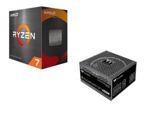 AMD Ryzen 7 5800X Processor + Thermaltake Toughpower GF1 650W 80+ Gold SLI/Crossfire Ready Ultra Quiet 140mm Hydraulic Bearing Smart Zero Fan Full Modular Power Supply