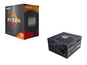 AMD Ryzen 7 5800X 8-Core 3.8 GHz Socket AM4 105W 100-100000063WOF Desktop Processor + Thermaltake Toughpower Grand RGB 750W GOLD Certified Full Modular Power Supply