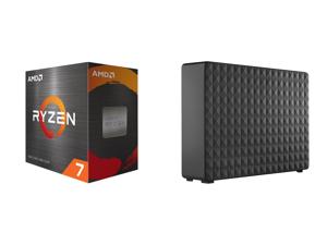 AMD Ryzen 7 5800X 8-Core 3.8 GHz Socket AM4 105W (100-100000063WOF) Desktop Processor + Seagate Expansion 8TB External Desktop Hard Drive PC Windows PS4 Xbox USB 2.0 3.0 Black (STEB8000100)