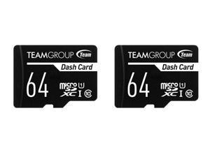 2 x Team 64GB Dash Card microSDXC UHS-I/U1 Class 10 Memory Card with Adapter, Speed Up to 80MB/s (TDUSDX64GUHS03)