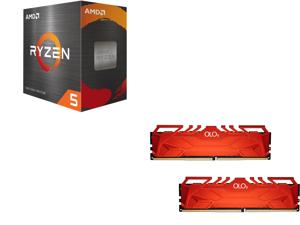 AMD Ryzen 5 5600X 6-Core 3.7 GHz Socket AM4 65W 100-100000065BOX Desktop Processor and OLOy 16GB (2 x 8GB) 288-Pin DDR4 SDRAM DDR4 3200 (PC4 25600) Desktop Memory Model MD4U083216BHDA