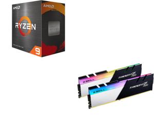 AMD Ryzen 9 5900X 12-Core 3.7 GHz Socket AM4 105W 100-100000061WOF Desktop Processor and G.SKILL Trident Z Neo (For AMD Ryzen) Series 32GB (2 x 16GB) 288-Pin RGB DDR4 SDRAM DDR4 3600 (PC4 28800) Desktop Memory Model F4-3600C16D-32GTZNC