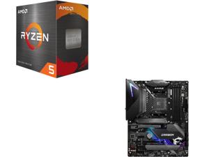AMD Ryzen 5 5600X 6-Core 3.7 GHz Socket AM4 65W 100-100000065BOX Desktop Processor and MSI MPG B550 GAMING CARBON WIFI AM4 AMD B550 SATA 6Gb/s ATX AMD Motherboard