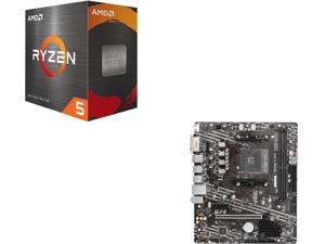 AMD Ryzen 5 5600X 6-Core 3.7 GHz Socket AM4 65W 100-100000065BOX Desktop Processor and MSI PRO B550M-A PRO AM4 AMD B550 SATA 6Gb/s Micro ATX AMD Motherboard