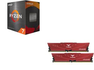 AMD Ryzen 7 5800X 8-Core 3.8 GHz Socket AM4 105W 100-100000063WOF Desktop Processor and Team T-FORCE VULCAN Z 16GB (2 x 8GB) 288-Pin DDR4 SDRAM DDR4 3200 (PC4 25600) Intel XMP 2.0 Desktop Memory Model TLZRD416G3200HC16CDC01