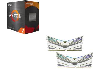 AMD Ryzen 7 5800X 8-Core 3.8 GHz Socket AM4 105W 100-100000063WOF Desktop Processor and OLOy WarHawk RGB 16GB (2 x 8GB) 288-Pin DDR4 SDRAM DDR4 3600 (PC4 28800) Desktop Memory Model ND4U0836165BCWDX