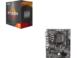AMD Ryzen 7 5800X 8-Core 3.8 GHz Socket AM4 105W 100-100000063WOF Desktop Processor and MSI PRO B550M-A PRO AM4 AMD B550 SATA 6Gb/s Micro ATX AMD Motherboard