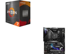 AMD Ryzen 7 5800X 8-Core 3.8 GHz Socket AM4 105W 100-100000063WOF Desktop Processor and MSI MPG B550 GAMING CARBON WIFI AM4 AMD B550 SATA 6Gb/s ATX AMD Motherboard