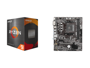 AMD Ryzen 9 5950X 16-Core 3.4 GHz Socket AM4 105W 100-100000059WOF Desktop Processor and MSI PRO B550M-A PRO AM4 AMD B550 SATA 6Gb/s Micro ATX AMD Motherboard