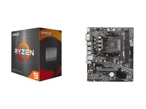 AMD Ryzen 9 5900X 12-Core 3.7 GHz Socket AM4 105W 100-100000061WOF Desktop Processor and MSI PRO B550M-A PRO AM4 AMD B550 SATA 6Gb/s Micro ATX AMD Motherboard