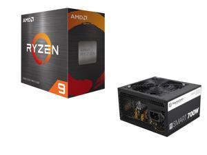 Thermaltake Smart Series 700W SLI / CrossFire Ready Power Supply + AMD Ryzen 9 5950X 16-Core 3.4 GHz Socket AM4 105W 100-100000059WOF Desktop Processor