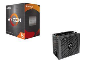 Thermaltake Smart BM2 750W 80+ Bronze Intel Skylake's C6/C7 States & ErP Ready Semi Modular Power Supply + AMD Ryzen 5 5600X 6-Core 3.7 GHz Socket AM4 65W 100-100000065BOX Desktop Processor
