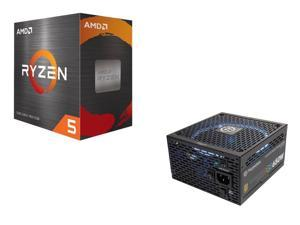 Thermaltake Toughpower Grand RGB 650W Smart Zero Fan SLI/CrossFire Ready Full Modular Power Supply + AMD Ryzen 5 5600X 6-Core 3.7 GHz Socket AM4 65W 100-100000065BOX Desktop Processor