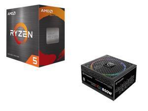 Thermaltake Toughpower Grand RGB 850W SLI/CrossFire Ready Full Modular Power Supply + AMD Ryzen 5 5600X 6-Core 3.7 GHz Socket AM4 65W 100-100000065BOX Desktop Processor