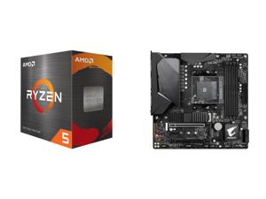 AMD Ryzen 5 5600X 6-Core 3.7 GHz Socket AM4 65W 100-100000065BOX Desktop Processor and GIGABYTE B550M AORUS PRO-P AM4 AMD B550 SATA 6Gb/s Micro ATX AMD Motherboard