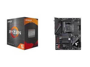 AMD Ryzen 5 5600X 6-Core 3.7 GHz Socket AM4 65W 100-100000065BOX Desktop Processor and GIGABYTE B550 AORUS PRO AC AM4 AMD B550 ATX Motherboard with Dual M.2 SATA 6Gb/s USB 3.2 Gen 2 Intel 802.11ac 2.5 GbE LAN PCIe 4.0