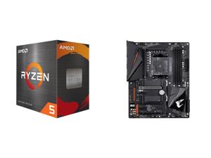AMD Ryzen 5 5600X 6-Core 3.7 GHz Socket AM4 65W 100-100000065BOX Desktop Processor and GIGABYTE B550 AORUS PRO AM4 AMD B550 ATX Motherboard with Dual M.2 SATA 6Gb/s USB 3.2 Gen 2 2.5 GbE LAN PCIe 4.0