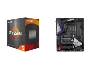 AMD Ryzen 5 5600X 6-Core 3.7 GHz Socket AM4 65W 100-100000065BOX Desktop Processor and GIGABYTE B550 AORUS MASTER AM4 AMD B550 ATX Motherboard with Triple M.2 SATA 6Gb/s USB 3.2 Gen 2 WIFI 6 2.5 GbE LAN PCIe 4.0