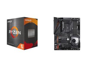 AMD Ryzen 5 5600X 6-Core 3.7 GHz Socket AM4 65W 100-100000065BOX Desktop Processor and GIGABYTE X570 AORUS PRO WIFI AMD Ryzen 3000 PCIe 4.0 SATA 6Gb/s USB 3.2 AMD X570 ATX Motherboard
