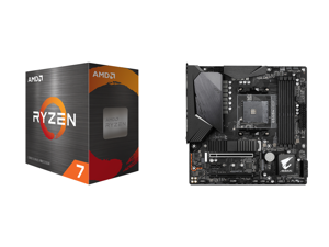 AMD Ryzen 7 5800X 8-Core 3.8 GHz Socket AM4 105W 100-100000063WOF Desktop Processor and GIGABYTE B550M AORUS PRO-P AM4 AMD B550 SATA 6Gb/s Micro ATX AMD Motherboard