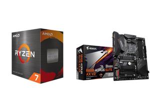 AMD Ryzen 7 5800X 8-Core 3.8 GHz Socket AM4 105W 100-100000063WOF Desktop Processor and GIGABYTE B550 AORUS ELITE AX V2 AM4 AMD B550 ATX Motherboard with Dual M.2 SATA 6Gb/s USB 3.2 Gen 2 2.4/5 GHz Dual-Band 2.5 GbE LAN PCIe 4.0