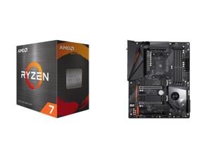 AMD Ryzen 7 5800X 8-Core 3.8 GHz Socket AM4 105W 100-100000063WOF Desktop Processor and GIGABYTE X570 AORUS PRO WIFI AMD Ryzen 3000 PCIe 4.0 SATA 6Gb/s USB 3.2 AMD X570 ATX Motherboard